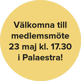 Medlemsmöte 23 maj 2016
